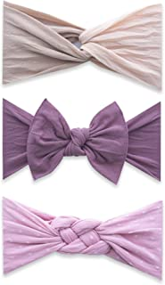 Bows 3 Pack - Baby to Little Girls Three Amigas Headbands Made in USA