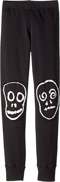 Nununu - Skull Mask Patch Leggings (Little Kids/Big Kids)