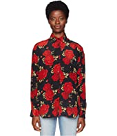 The Kooples - Sleeping Rose Print Shirt in China Crepe