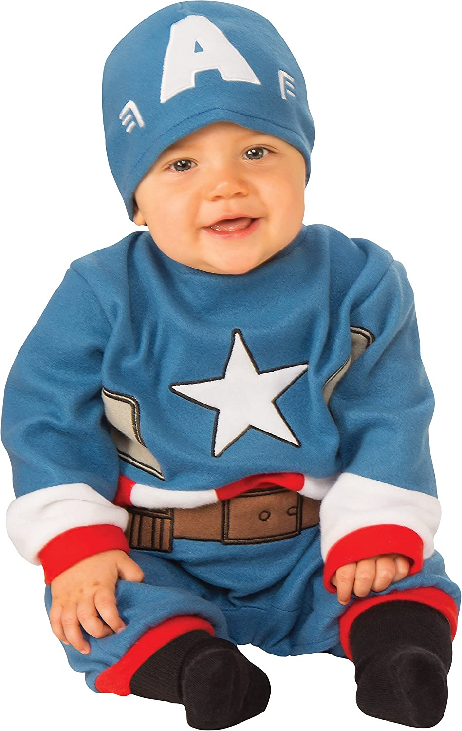 Amazon Com Rubie S Baby S Marvel Captain America Romper Clothing Captain marvel is the perfect way to show that you're more than just a girl; rubie s baby s marvel captain america romper