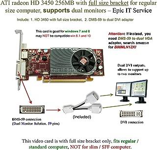 Half Height DUAL MONITOR WINDOWS 10 PCI-E x16 Video Card SFF 9300 NVIDIA 256MB