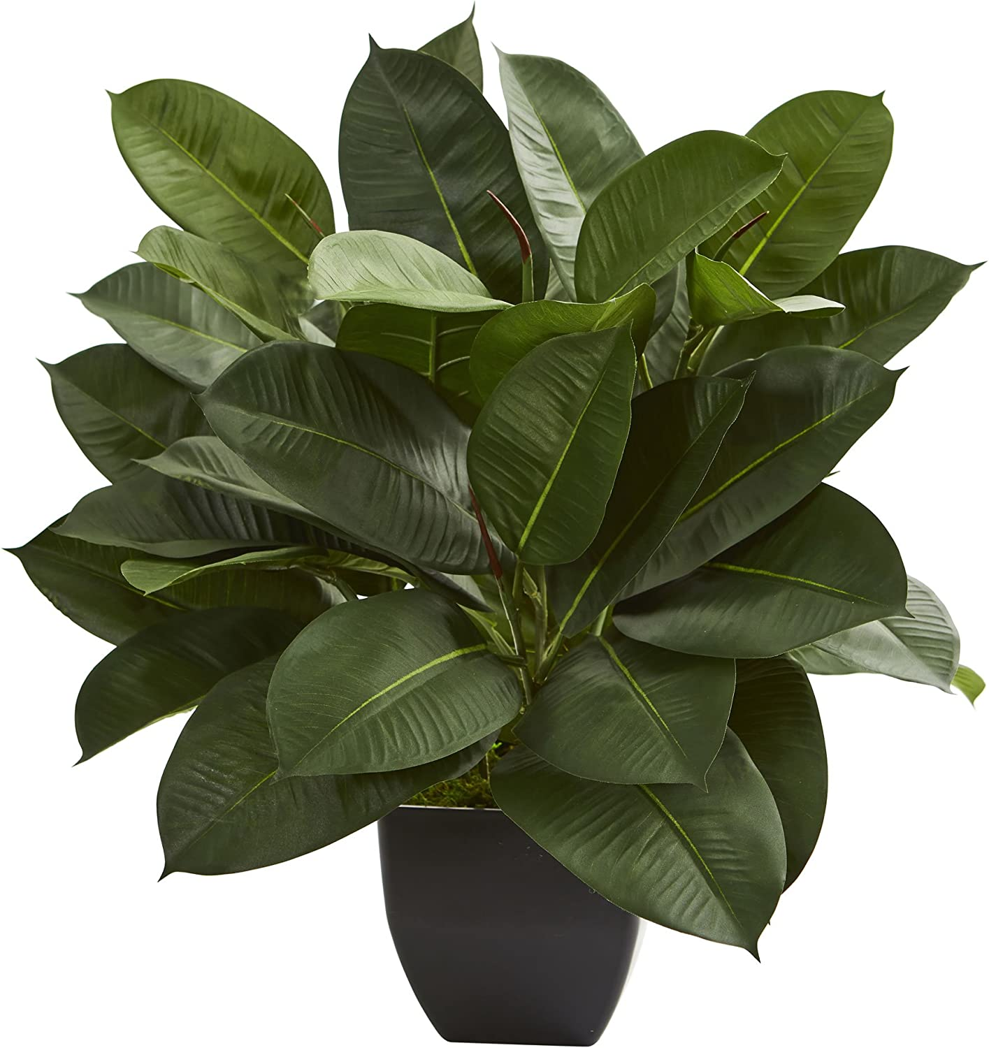 Nearly Natural 6971 Oak Ficus Artificial Silk Plants, Green