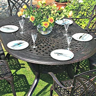 Lazy Susan Jessica 180 x 120cm Ovales Gartenmöbelset Alu - 1 JESSICA Tisch + 6 JANE Stühle
