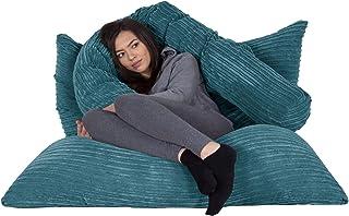 Lounge Pug®, Puff Gigante Cama XL, Pana Clásica - Egeo Azul