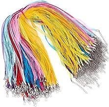 "3 x 16/"" Ribbon//3-strand Cord Choker /& Chain 18 Orange"