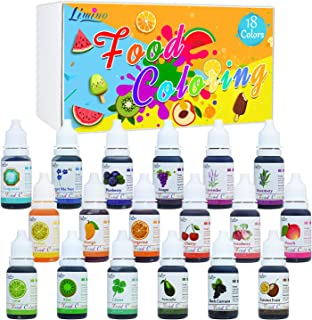 18 Color Food Coloring - Liquid Cake Icing Food Coloring Set for Baking, Decorating, Slime Making Supplies Kit - Concentrated Food Color Dye for Fondant, Cooking and DIY Crafts(0.35 fl. oz./10ml Each)