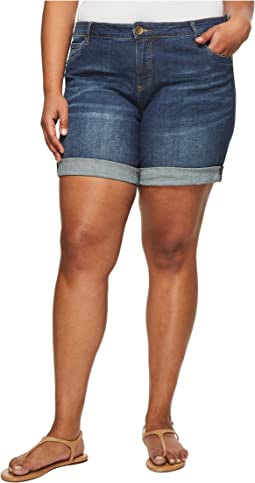 KUT from the Kloth - Plus Size Catherine Boyfriend Shorts in Joyful