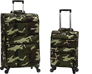 Rockland Gravity 2 Pc Light Weight Luggage Set, Camo