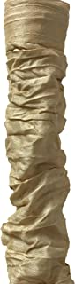 Royal Designs CC-11-AGL Antique Gold Cord & Chain Cover- 4 feet- Silk-Type Fabric Touch Fastener - Use for Chandelier Lighting Wires