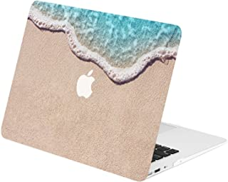 """TOP CASE - Retro Series Rubberized Hard Case Compatible Older Generation MacBook Air 13"""" A1369 / A1466 (Release 2010-2017) - Clearwater Beach"""