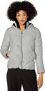 Pink Platinum Women's Puffer W/Sherpa Hood & Collar Lining