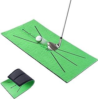 """تشک آموزش گلف GHGSD ، تشک های ضربه ای مینی قابل حمل گلف برای ضربه زدن به تشخیص چرخش ، کمکهای آموزشی 12 """"X 24"""" گلف که به عنوان بازی و هدیه برای خانه / دفتر / فضای باز / حیاط خانه استفاده می شود"""