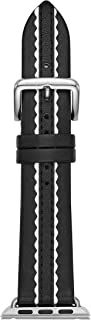 kate spade new york 38mm Apple Watch Band, Scallop Black and White Leather, KSS004