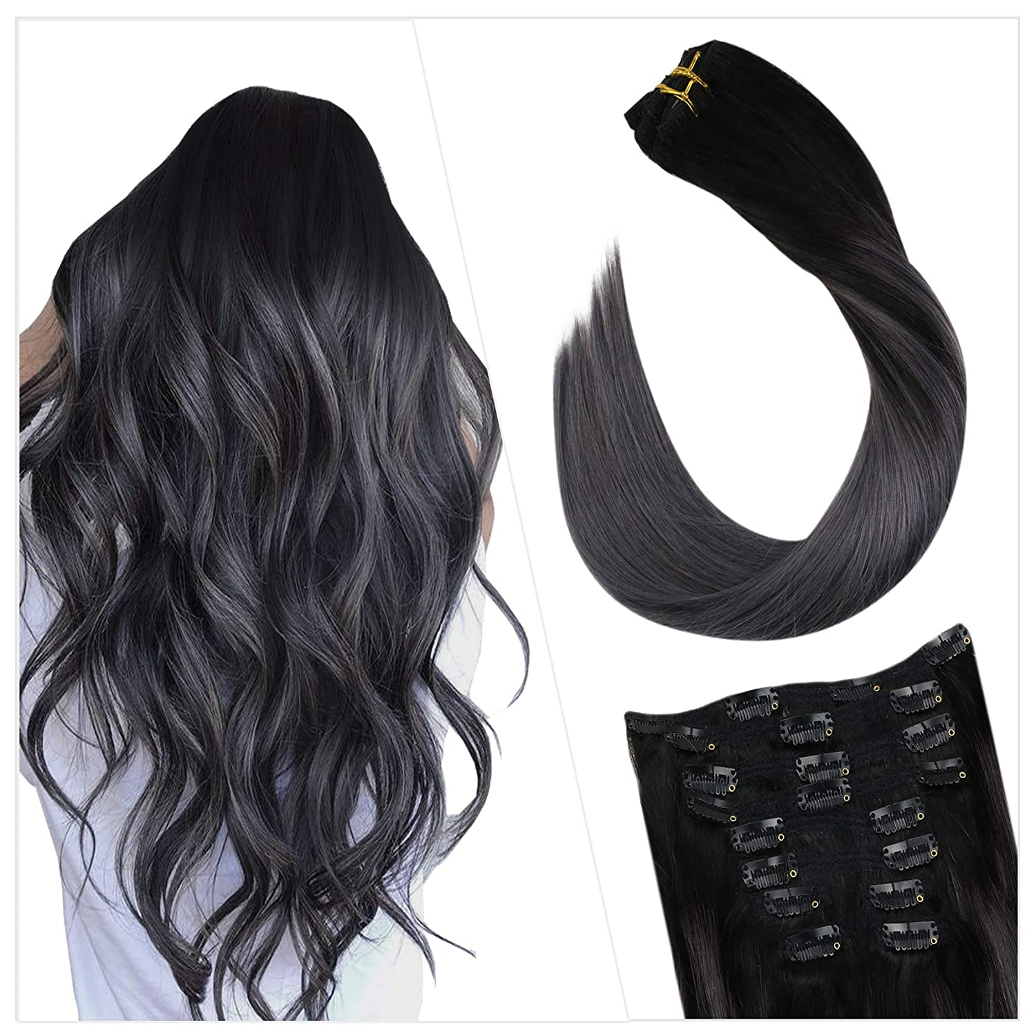 Ueget store 16 Inch Clip Extensions service in Hair Real