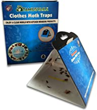Clothes Moth Traps (6 Count) Moth Repellent with Pheromones Lure| Sticky Glue Traps for Bugs, Moth Killer for Carpet, Wool...
