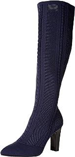 Charles by Charles David Women's Davis Knee High Boot, Navy, 9.5 M US