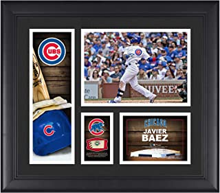 """Javier Baez Chicago Cubs Framed 15"""" x 17"""" Player Collage with a Piece of Game-Used Ball - MLB Player Plaques and Collages"""