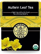 Buddha Teas Organic Mullein Leaf Tea| 18 Tea Bags | No Caffeine | Made in the US