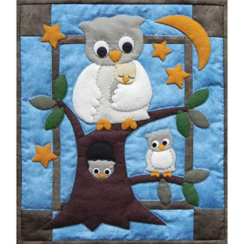 b6a93dd70284 Rachel s Of Greenfield Owl Family Wall Hanging Quilt Kit