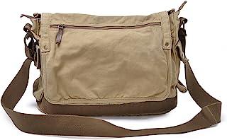 Gootium Canvas Messenger Bag - Vintage Cross Body Shoulder Satchel, Khaki