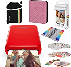 Polaroid Zip Wireless Mobile Photo Mini Printer (Red) Compatible w/iOS & Android, NFC & Bluetooth Devices with Bundle Accessories
