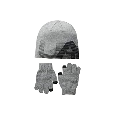 Under Armour Beanie/Gloves Combo (Little Kids/Big Kids) (Steel/Black/Charcoal) Beanies