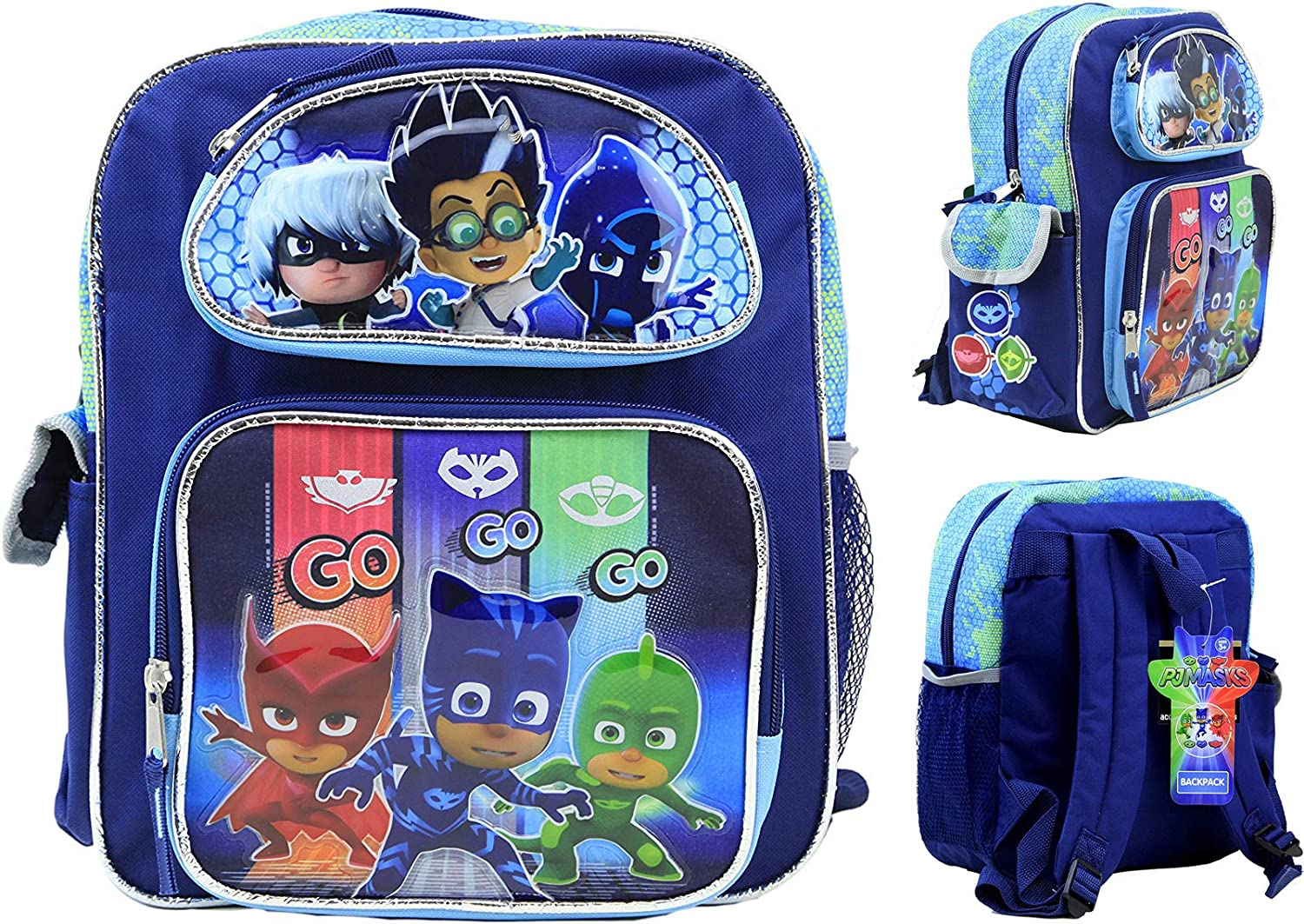 Nickelodeon PJ Masks Kids 12 Backpack Philadelphia Mall inch Toddler School Canvas Recommended