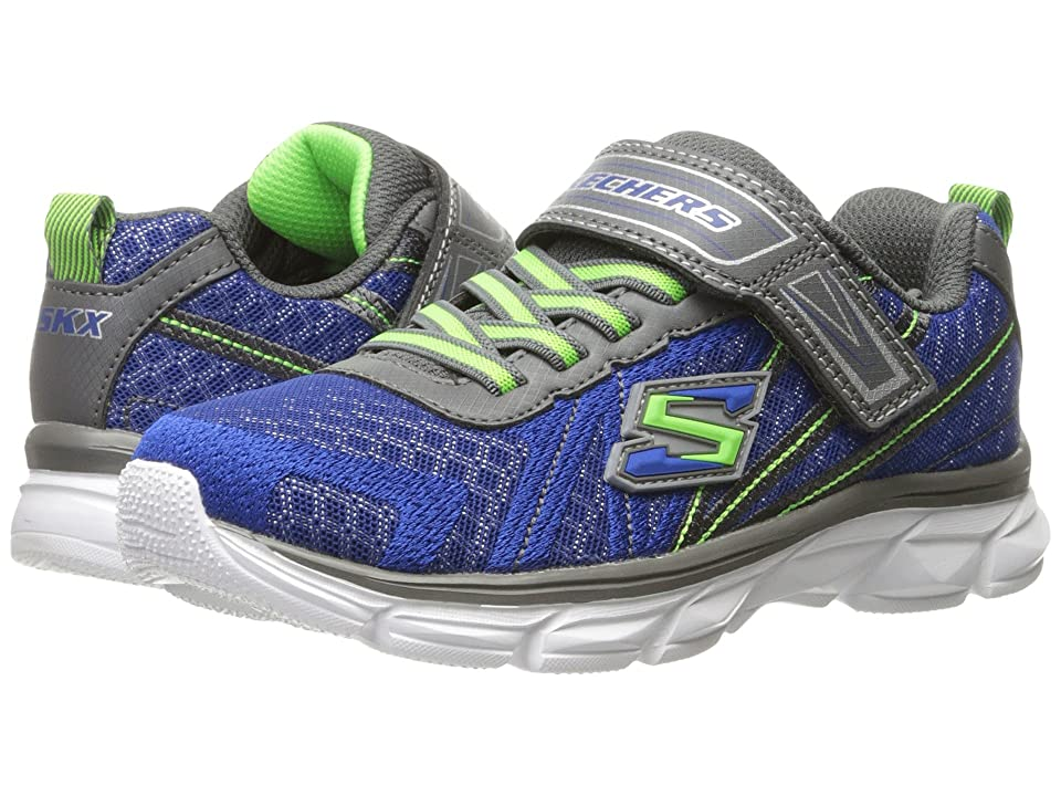SKECHERS KIDS Advance (Little Kid/Big Kid) (Blue/Gray) Boy