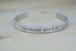 Firefighter Wife Bracelet, Firefighter Wife Jewelry, I Love My Firefighter, Fire Wife