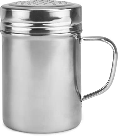 Back of House Ltd. Metal Dredge Shaker with Handle & Stainless Steel Lid,  10 Oz. – Restaurant Quality Dispenser