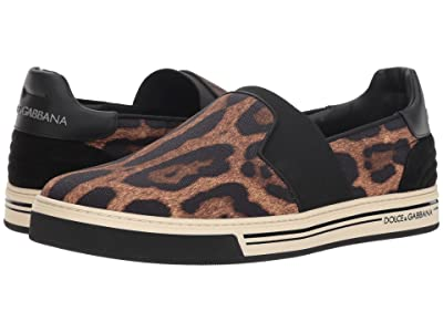 Dolce & Gabbana Leopard Low Top Sneaker (Leopard) Men