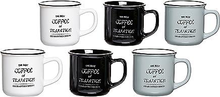 Preisvergleich für Ritzenhoff & Breker Kaffeebecher-Set Best Coffee, 6-teilig, 330 ml, farblich sortiert