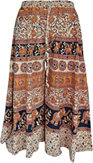WHITE MANY Jaipuri Cotton Printed Palazzo Pants for Women's | Traditional & Stylish Palazzos for Girls (Free Size)