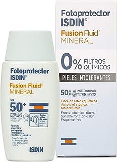 Fotoprotector ISDIN Fusion Fluid MINERAL SPF 50+ | Protector solar facial | 0% filtros químicos | 50ml
