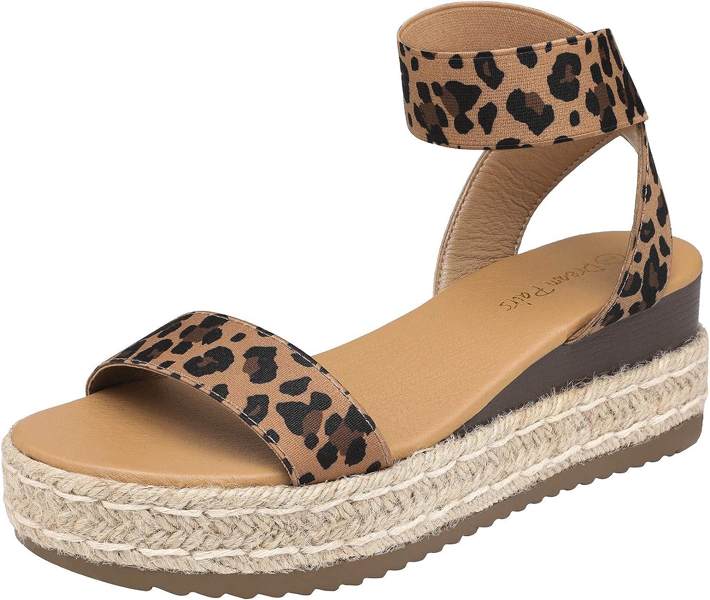 DREAM PAIRS Women's Ankle Strap Espadrilles Platform Wedges Sandal