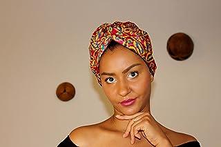 Dana Bonnet turbante foderato di raso pronto per indossare/tessuto africano/Turbante chemioterapia/fascia cappelli
