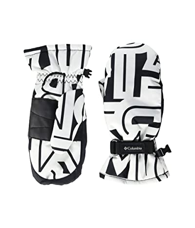 Columbia Kids Coretm Mitten (Big Kids) (White Typo Print) Extreme Cold Weather Gloves