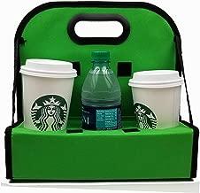 TheBiker, Cup Carrier Reusable Waterproof Folding Insulated, 6 Cups (Green)