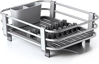 OXO 13229100 Good Grips Rustproof Aluminum Dish Rack,Gray