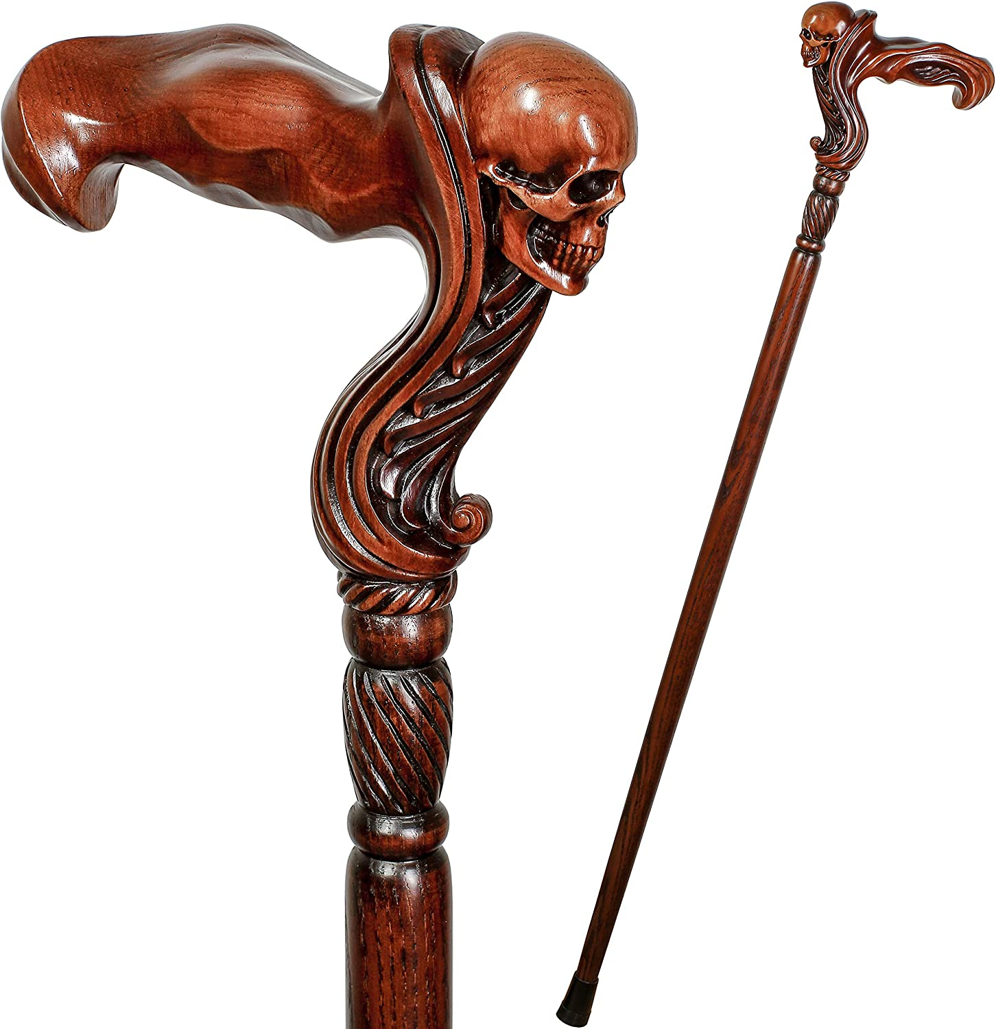 GC-Artis Wooden Walking Max 83% OFF Cane At the price with Palm Grip Head Skull Ergonomic
