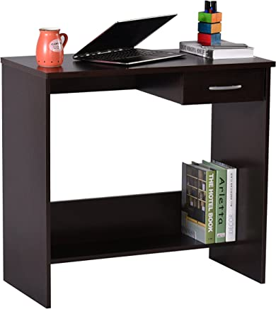 Deckup Siena Office Table and Study Desk (Dark Wenge, Matte Finish)