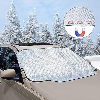 UV-Strahlung EIS Sonne Staub 210 x 120cm Frost yotame Frontscheibenabdeckung Auto Scheibenabdeckung Frontscheibe Abdeckung Magnet Fixierung Faltbare Auto Abdeckung f/ür Schnee