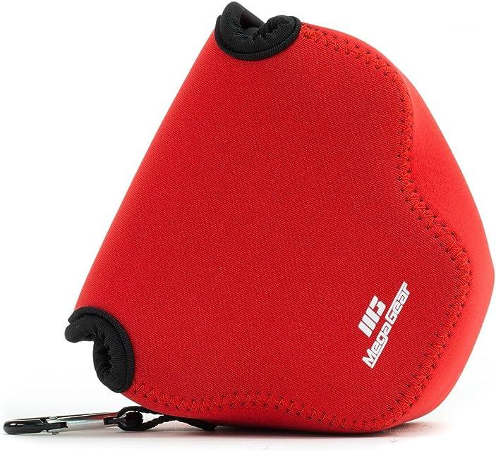 MegaGear Para Canon Power SX540 HS SX530 HS Canon Power SX420 SX410 Estuche de cámara ultra ligero de neopreno - Rojo