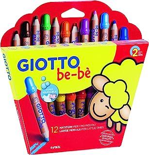 comprar comparacion Giotto be-bè 466500 - Estuche 12 súper lápices de colores (mina de 7 mm diámetro, capuchón posterior de seguridad anti-mor...