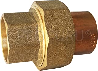 PROCURU 1-1/2 Inch Copper Union CxC Solder Sweat Connection, Lead Free Certified (1-1/2