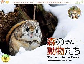 カレンダー2021 太田達也セレクション 森の動物たち Tiny Story in the Forests(月めくり・壁掛け) (ヤマケイカレンダー2021)