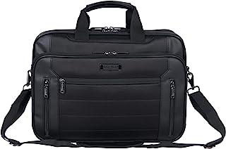 Color : Black ROBDAE Man Laptop Bag Mens PU Leather Laptop Bag Military Laptop Messenger Bag Multi-Function Tactical Briefcase Computer Shoulder Bag Business Briefcase