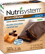 Nutrisystem® NutriCRUSH® Double Chocolate Caramel Bars, 30 ct, Meal Replacement Bars for Weight Loss