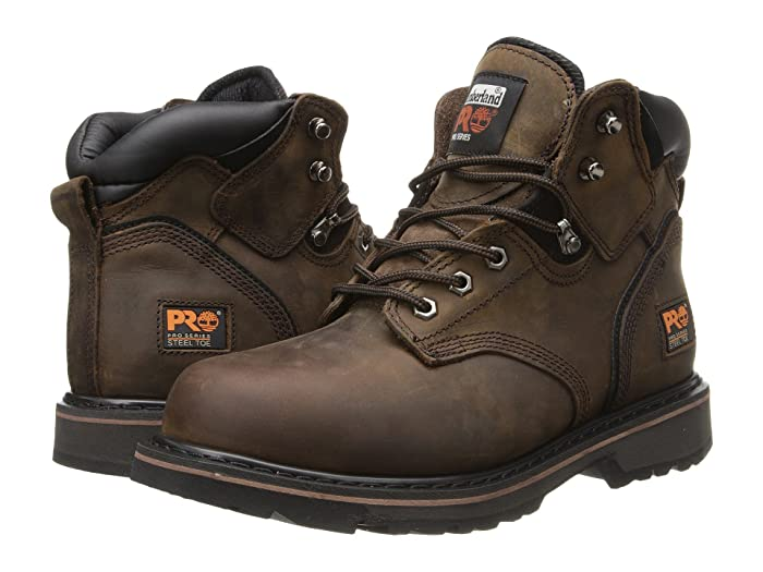Timberland PRO  6 Pit Boss Steel Toe (Gaucho Oiled Full-Grain Leather) Mens Work Lace-up Boots