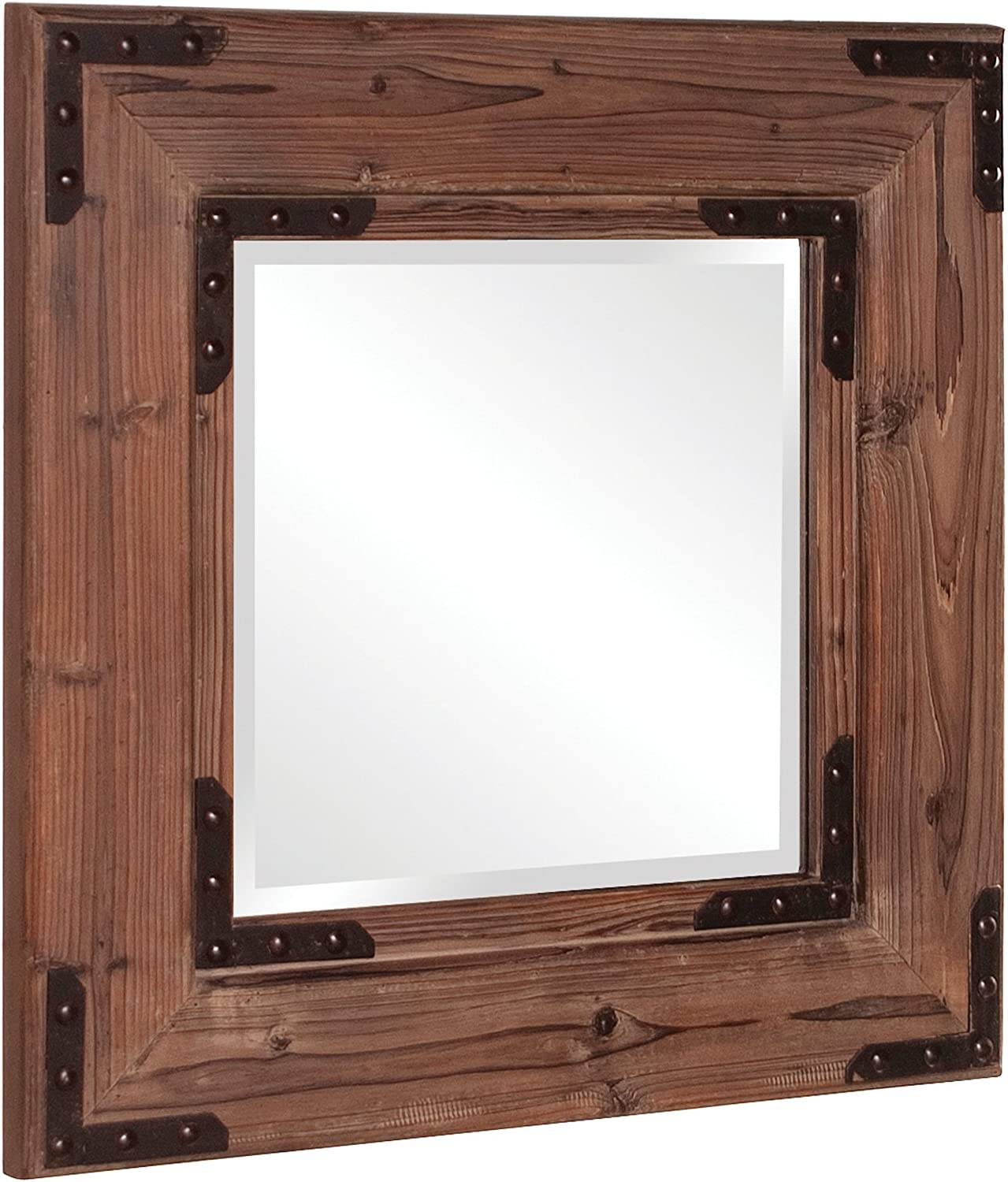 Howard Elliott 37069 Caldwell Square Mirror, Natural Wood